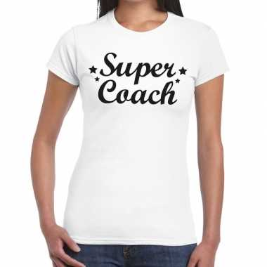 Goedkope super coach cadeau t shirt wit dames
