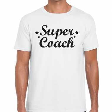 Goedkope super coach cadeau t shirt wit heren