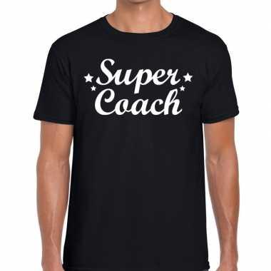 Goedkope super coach cadeau t shirt zwart heren