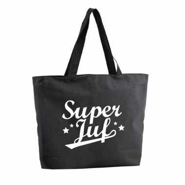 Goedkope super juf shopper cadeau tas zwart