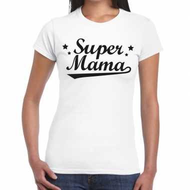 Goedkope super mama cadeau t shirt wit dames