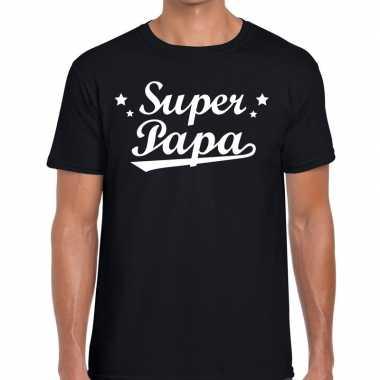 Goedkope super papa cadeau t shirt zwart heren