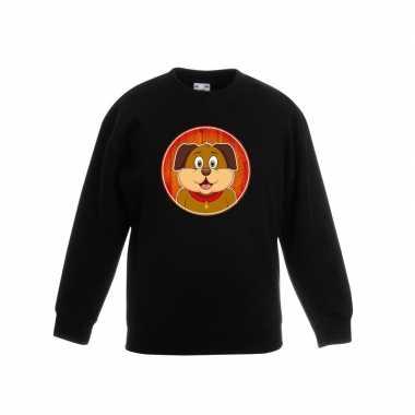 Kersttrui Hond.Goedkope Sweater Hond Zwart Kinderen Goedkope Info