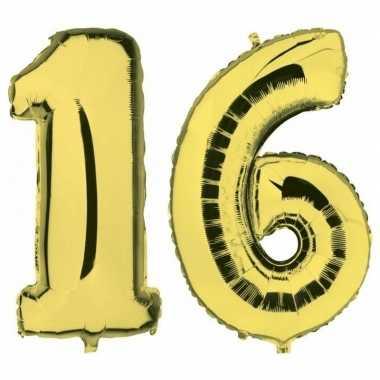 Goedkope sweet gouden folie ballonnen leeftijd/cijfer jaar