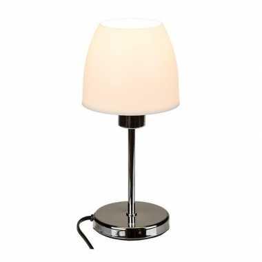 Goedkope tafel lamp zilveren voet ,