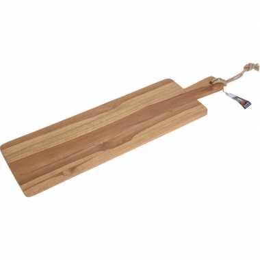 Goedkope teak houten serveerschaal/serveerblad handvat