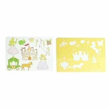 Goedkope tekensjabloon prinsessen geel