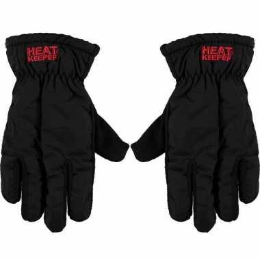 Goedkope thermo mega handschoenen zwart heren