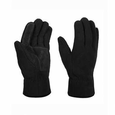 Goedkope thinsulate fleece handschoenen zwart volwassenen maat l/xl