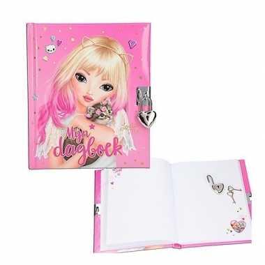 Goedkope topmodel dagboek slotje roze