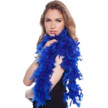 Goedkope toppers blauwe verkleed boa