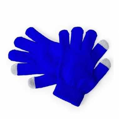 Goedkope touchscreen handschoenen kind blauw