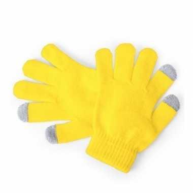 Goedkope touchscreen handschoenen kind geel