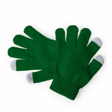 Goedkope touchscreen handschoenen kind groen