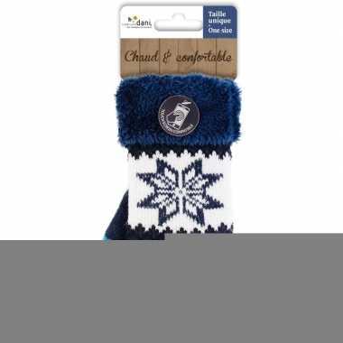 Goedkope touchscreen handschoenen nordic/navy blauw dames