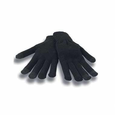Goedkope touchscreen handschoenen zwart volwassenen
