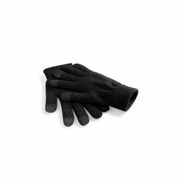 Goedkope touchscreen heren handschoenen zwart
