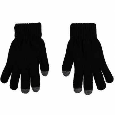Goedkope touchscreen thermo handschoenen zwart dames