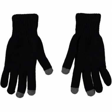 Goedkope touchscreen thermo handschoenen zwart heren