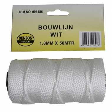 Goedkope touw bouwlijn wit meter , mm