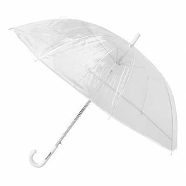 Goedkope transparante paraplu kunststof handvat
