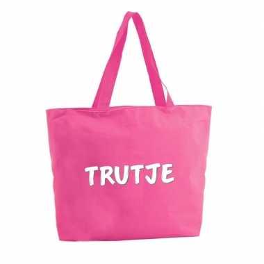 Goedkope trutje shopper tas fuchsia roze
