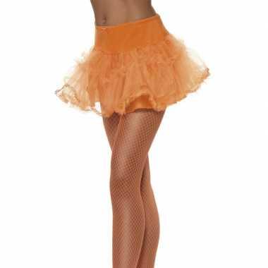 Goedkope tule petticoat oranje