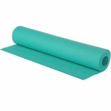 Goedkope turquoise blauwe yogamat/sportmat
