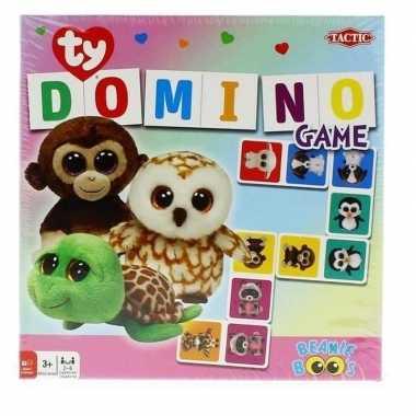 Goedkope ty beanie speelgoed domino spel