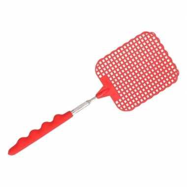 Goedkope uitschuifbare vliegenmepper rood