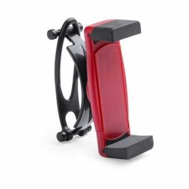 Goedkope universele mobiele telefoon houder fiets rood