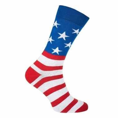 Goedkope usa / amerika feest carnaval sokken volwassenen