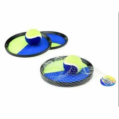 Goedkope vangbalspel klittenband blauw/geel