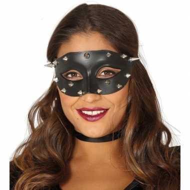 Goedkope venetiaans zwart oogmasker studs dames