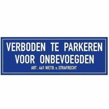 Goedkope verboden te parkeren onbevoegden sticker