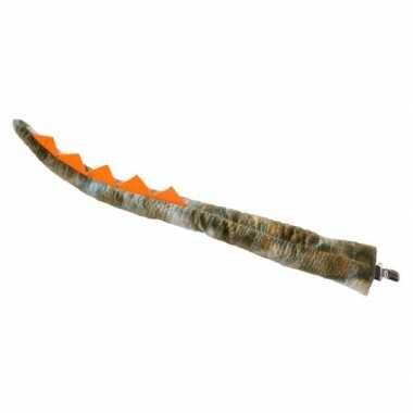 Goedkope verkleed/speelgoed dinosaurus staart