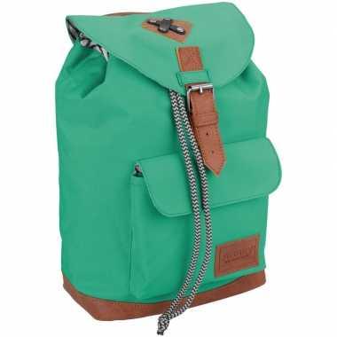 Goedkope vintage rugzak/rugtas mint groen kinderen