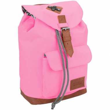 Goedkope vintage rugzak/rugtas roze kinderen