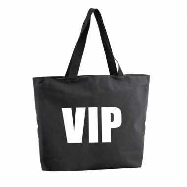 Goedkope vip shopper tas zwart