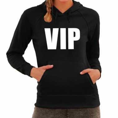 Goedkope vip tekst hoodie zwart dames