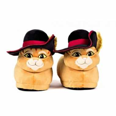 Goedkope volwassenen gelaarsde kat sloffen / pantoffels