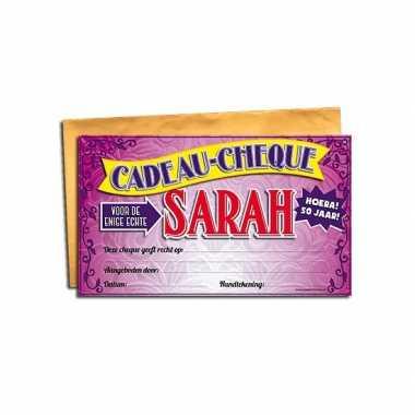 Goedkope waardebon sarah
