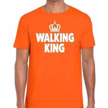 Goedkope walking king t shirt oranje heren