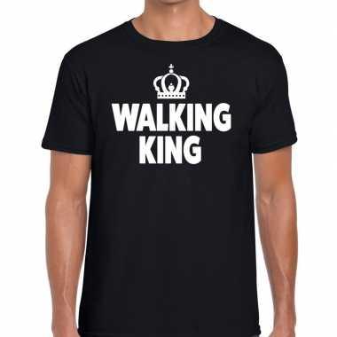 Goedkope wandel t shirt walking king zwart heren