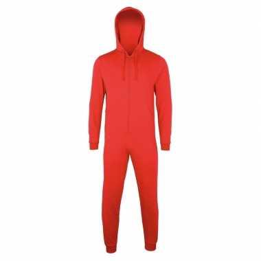 Goedkope warme onesie/jumpsuit rood dames