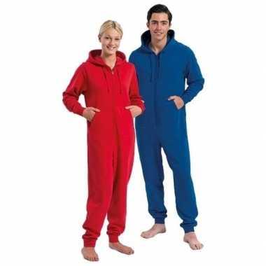 Goedkope warme onesie/jumpsuit rood heren