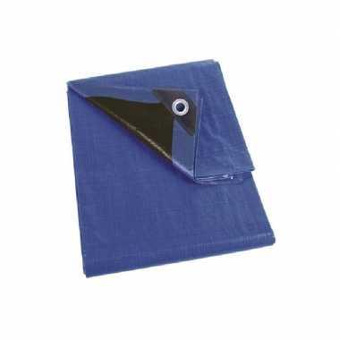 Goedkope waterdicht dekzeil extra sterk blauw/zwart meter
