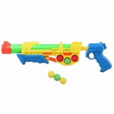 Goedkope waterpistool pomp ballen geel/blauw