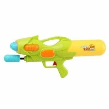 Goedkope waterpistool pomp groen/geel