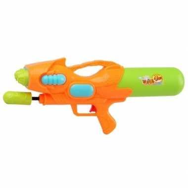 Goedkope waterpistool pomp oranje/groen